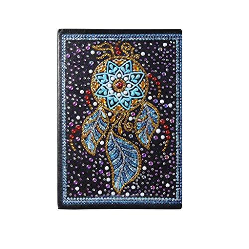 Yearnly 5D Diamant Malerei Cover Notebook,DIY Mandala Farbe Diamant Buch A5 Notepad Weihnachten Geburtstag kreatives Geschenk für Kinder Erwachsene Tagebuch Journal Reisen Schule Büro