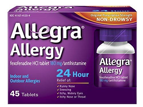 Preisvergleich Produktbild Allegra 24-Stunden-Allergie-Relief,  180 mg,  60 Grafen