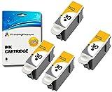 4 XL SCHWARZ Druckerpatronen für Kodak ESP C100, C110, C115, C300, C310, C315, C330, C360, 1.2, 3.2, 3.2S, Office 2100, 2150, 2170 AIO, Hero 2.2, 3.1, 4.2, 5.1 | kompatibel zu Kodak 30B
