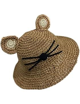 Leisial unisex bambino cappello da sole cute Cartoon Cat orecchio bacino tappo caffè Coffee taglia unica