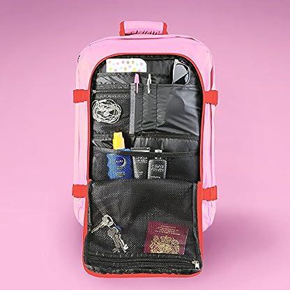 Cabin-Max-Metz-Flugzugelassenes-Backpack-Gro-Leichtgewicht-Handgepckstck-55x40x20cm-Pink-Crush
