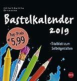 Bastelkalender schwarz mittel - Kalender 2019