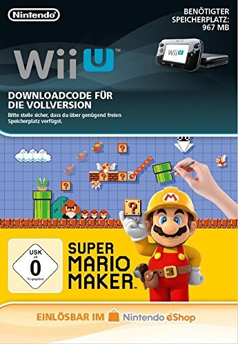 Super Mario Maker [Wii U Download Code] (Mario Super Amiibo Figuren)