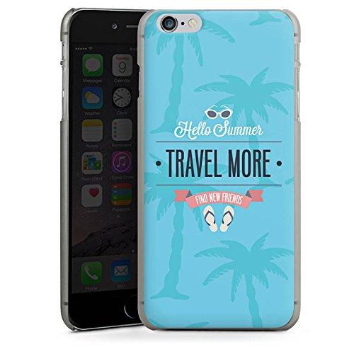 Apple iPhone X Silikon Hülle Case Schutzhülle Sommer Reisen Urlaub Hard Case anthrazit-klar