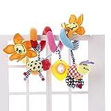 JYSPORT Jouet lit bébé - spirale d'activités - poussette, siège auto-Jouet en peluche suspendu pour bébé - de 0 à 36mois, tournesol