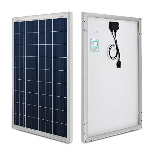 Módulos de paneles solares de Renogy®, paneles policristalinos, fotovoltaicos (PV), 12 V, 100 W, ideales para vehículos recreativos y para embarcaciones