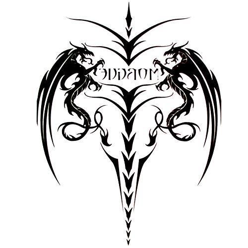 LBBMBC 10 STÜCKE Drachen Schwert wasserdichte Tattoo Aufkleber Männer Körper Tattoo Beine Flash Tattoo - Schwerter Frau Kostüm