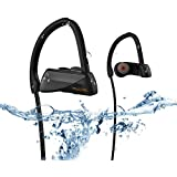 Today 65% OFF! MGcool Bluetooth Earphone Wireless Earbuds with Mic Sport Stereo Headset, IPX7 Waterproof Headphone for Gym Running,Premium Sound with Bass,Noise Canceling,for iPhone And Phones