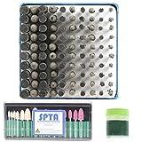 SPTA abrasivos piedra punto de molienda cabeza rueda Juego de fresas de pulido para PROXXON Dremel Rotary tools-select vástago