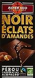 Alter Eco Tablette de Chocolat Noir Eclats d'Amandes Bio et...