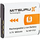 Mitsuru® 960mAh batterie de rechange pour Sony NPFG1 NPBG1 NP-FG1 NP-BG1 , Sony CyberShot DSC-W50 DSC-W55 DSC-W70 DSC-W80 DSC-W85 DSC-W90 DSC-W100