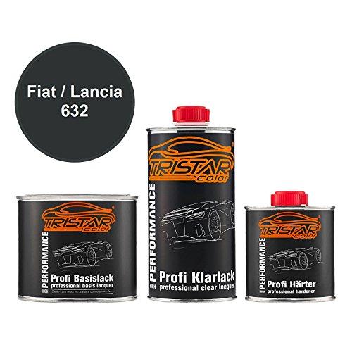 Preisvergleich Produktbild TRISTARcolor Autolack Set Dose spritzfertig FIAT / Lancia 632 Nero Elena Perl Basislack + 2K Klarlack 1, 25L
