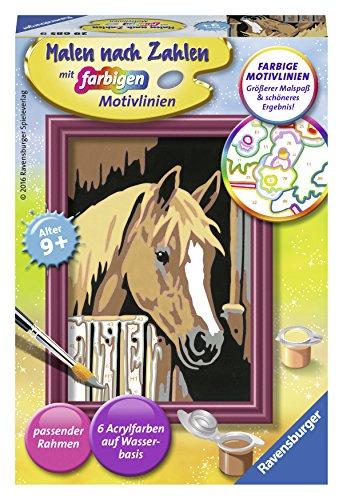 Ravensburger Malen nach Zahlen 29685 29685-Pferd im Stall, Malset