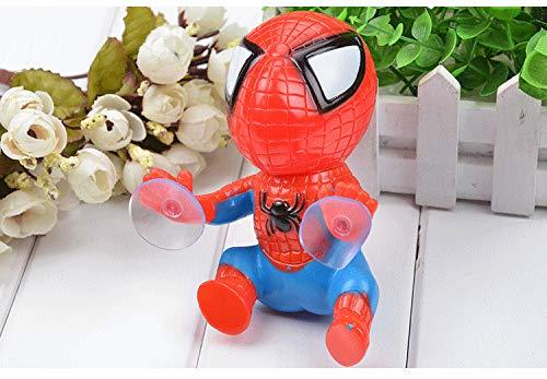 Moocevill - 360 Grad-drehender Netter 16cm Climbing Spiderman Sauger Puppe Saugnapf Spielzeug Auto-Auto-Aufkleber-Dekoration Autozubehör
