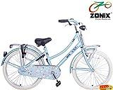 Zonix Mädchen Hollandrad Hellbblau / Design 24 Zoll mit Frontträger
