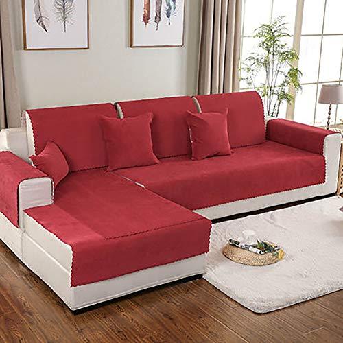 L&ve impermeabile animale domestico cane copridivani, tinta unita resistente alle macchie divano una fodera del divano mobili morsetto soldi -venduti a pezzo-rosso 43x43inch