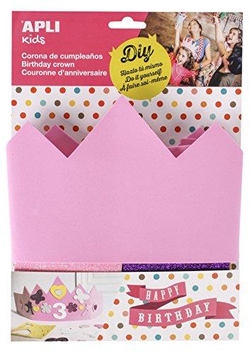 APLI Kids 14479EVA espuma rosa cumpleaños corona compatible con todos los (un tamaño)