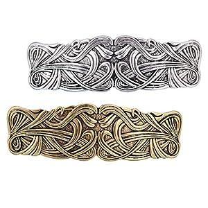 2er Pack Große Keltische Haarklammer Haarnadel Haargreifer Barrette Haarspange Clip für Mädchen Damen