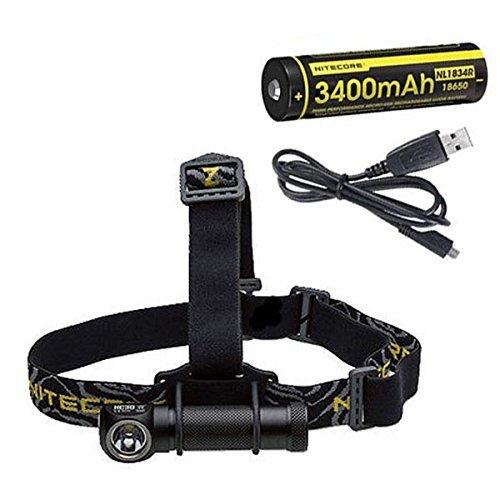 Nitecore HC30W CreE XM-L2 U2 LED-Scheinwerfer, 1000 Lumen + NL1834R & Eco-Sensa USB-Kabel (Elektronik Andrews)