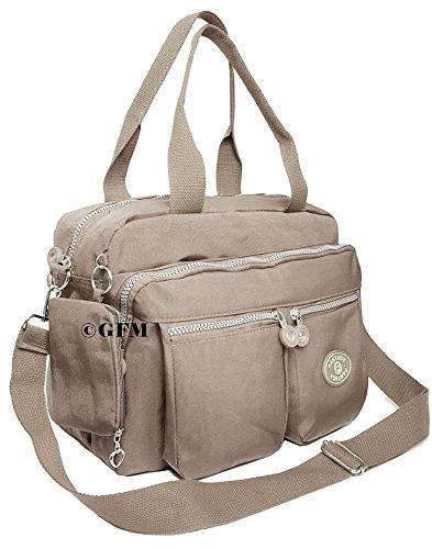 GFM Fashion , Borsa Messenger  Bambine e ragazze Uomo Donna Bambini e ragazzi Style 2 - Champagne Taupe (658TPB)