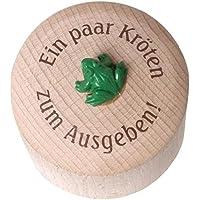 Preisvergleich für Weiss Natur Pur, MoneyBox Kröten, Spardose aus Holz (rund) für Kinder