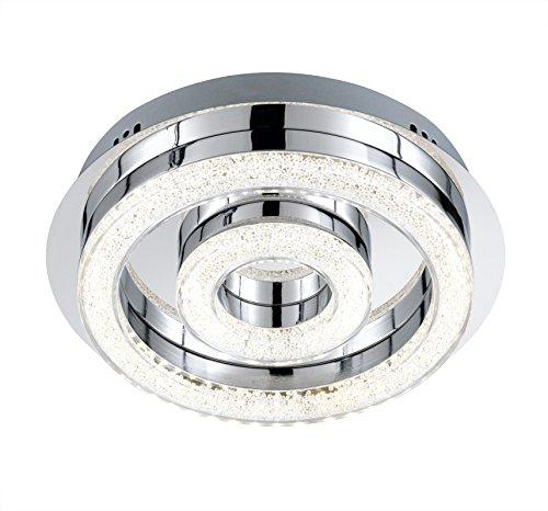 Deckenleuchte Chrom Acrylglas klar mit Perlen LED 23012 Deckenleuchte Spot Design Lampe Leuchte Beleuchtung (23012)