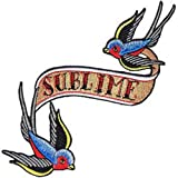SUBLIME Bluebird Patch Fleck, Officially Licensed Products Cross-Platform CLASSIC ROCK Artwork, Iron-On / Sew-On, 4.75 x
