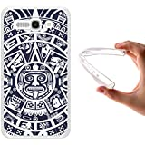 Funda Alcatel One Touch Pop C9, WoowCase [ Alcatel One Touch Pop C9 ] Funda Silicona Gel Flexible Calendario Azteca, Carcasa Case TPU Silicona - Transparente