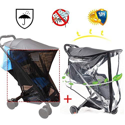 Regenschutz für Kinderwagen, universell und Moskitonetz, für Babys, Autositze, B