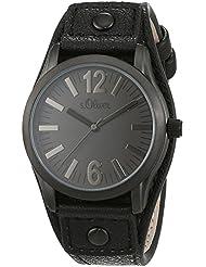 s.Oliver UNISEX-Armbanduhr Analog Quarz Leder SO-2935-LQ