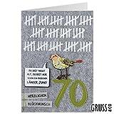 Grußkarte Filz - Zum 70. Geburtstag - Geburtstagskarte - 07