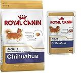 Royal Canin Chihuahua Adult 500g Spezialfutter für Chihuahua + 4x Royal Canin Chihuahua Nassfutter dazu