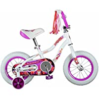 Schwinn Bicicleta de tigre para niñas, Rueda de 30,48 cm, color blanco