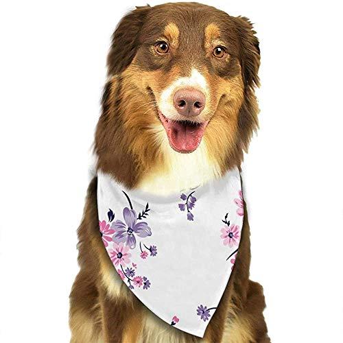 YAGEAD Hund Bandana Welpe und Haustier Bandanas, Blumenstrauß Muster S Haustier Schal