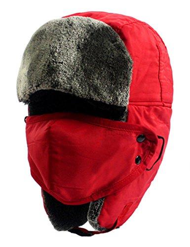 Tina Unisex Winter Outdoor Earflap Russian Ushanka Trooper Ski Hat