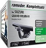 Rameder Komplettsatz, Anhängerkupplung abnehmbar + 13pol Elektrik für Suzuki Grand Vitara II (143274-05489-1)