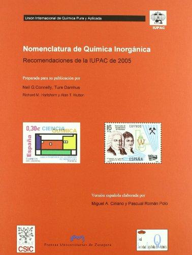 Nomenclatura de Química Inorgánica. Recomendaciones de la IUPAC de 2005. (Fuera de colección)