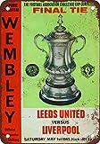 Froy 1965 Leeds Vs Liverpool Wembley Wand Blechschild Retro