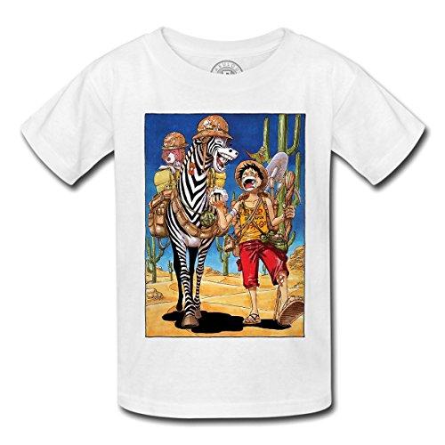 T-shirt enfant one piece luffy zebra manga anime