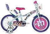 """giordanoshop Bicicletta per Bambina 16"""" 2 Freni LOL Bianca e Viola"""