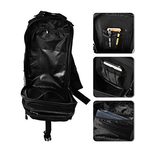 Imagen de tld  de senderismo 28 litros,color negro, táctica , de asalto para excursionismo, montañismo, ciclismo, trekking ,  military de alta calidad. negro  alternativa