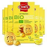Tims Feines Bio Shortbread Zitrone 7x 165 g I Original Kanadische Butterkekse I Buttriges, süßes Dinkel-Mürbteiggebäck ohne Konservierungsstoffe I Traditionelle kanadische Backwaren Made in Germany