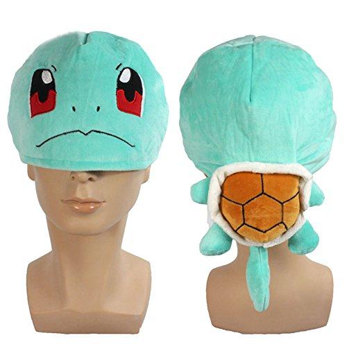 CosplayWorld® Pokémon Cosplay Schiggy / Squirtle Pokemon Sammlerstück weichem Plüsch Mütze Beanie Hut Niedlich Cap (Pokemon Ash Hut)