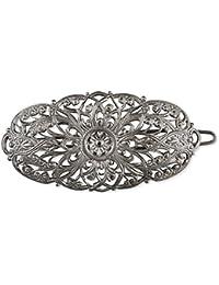 Rivelle Damen Trachten Haarspange Julia Haarschmuck Vintage Hochzeit Metall Silber