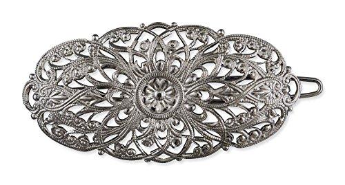 Rivelle Damen Trachten Haarspange Charlotte alt-Silber Haarschmuck Vintage Hochzeit Metall Silber