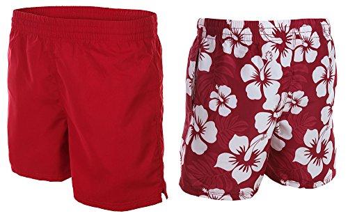 2 in 1! Gli uomini di svolta tronchi / costume da bagno / pantaloncini da surf / Uni / Hibiscus Disegno / Octopus 1261 -f5321