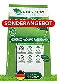 Natureflow Premium Rasensamen zur Nachsaat - 1kg Highspeed Grassamen-Nachsaat - Besonders Schnellkeimende Rasenmischung - Zuverlässige Rasen-Reparatur - Für Ihren Traumgarten