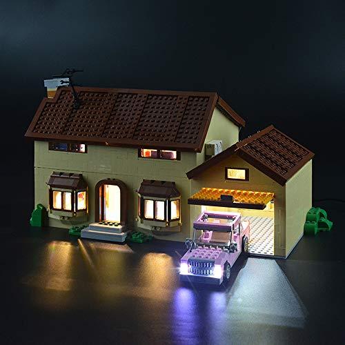 LIGHTAILING Conjunto de Luces (Casa De Los Simpsons) Modelo de Construcción de Bloques - Kit de luz LED Compatible con Lego 71006 (NO Incluido en el Modelo)