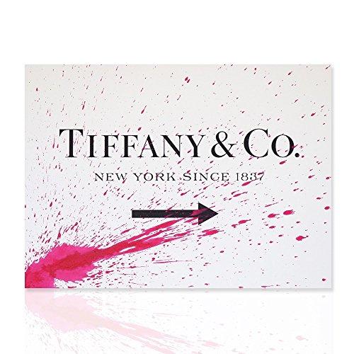Colorscrazy Malerei auf Leinwand Rahmen für Möbel - Rahmen Tiffany in New York since 1837 - Dekoration mit weißen und pinkfarbenen Skizze Design - Declea