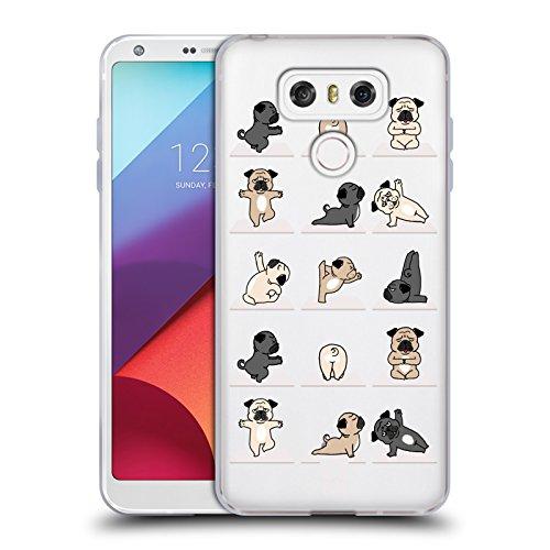 Head Case Designs Hund Yoga Tiere Soft Gel Hülle für LG G6 / G6 Dual